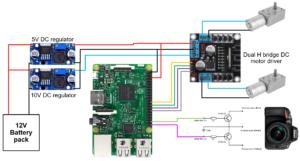 Electronics Diagram of DIY Timelapse Slider