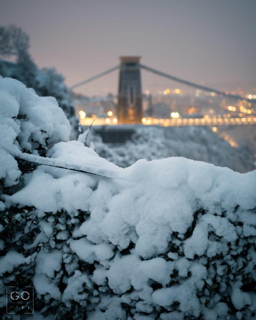 Snowy Dawn at the Bridge