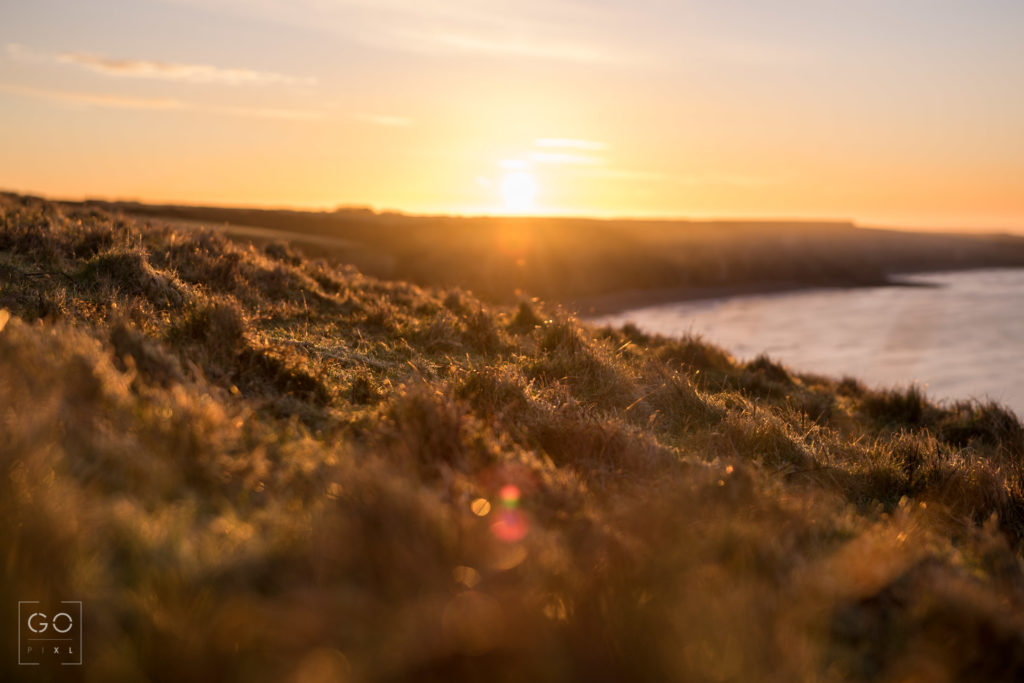 Sunrise in frosty Glamorgan Coast