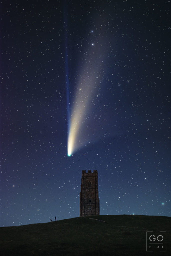 Comet Neowise Over Glastonbury Tor